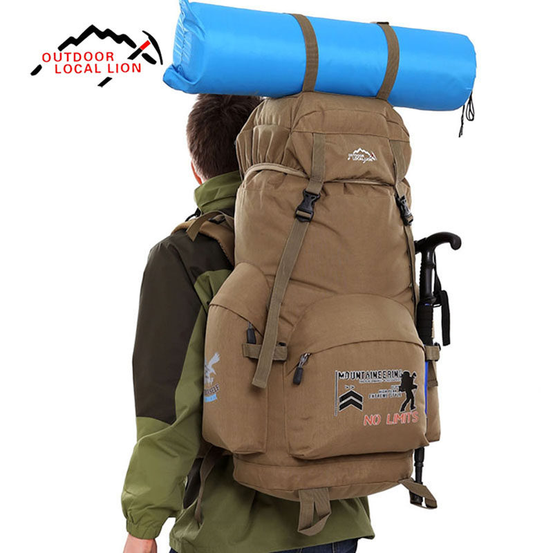 LOCAL LION 70L Waterproof Hiking Bag Travel Climbing Sport backpack Nylon Bag for Men Outdoor Camping Hiking Trekking Bagpack outdoor sport bag local lion 35l waterproof rucksack bags women space bag climbing men travel camouflage laptop backpack mochila