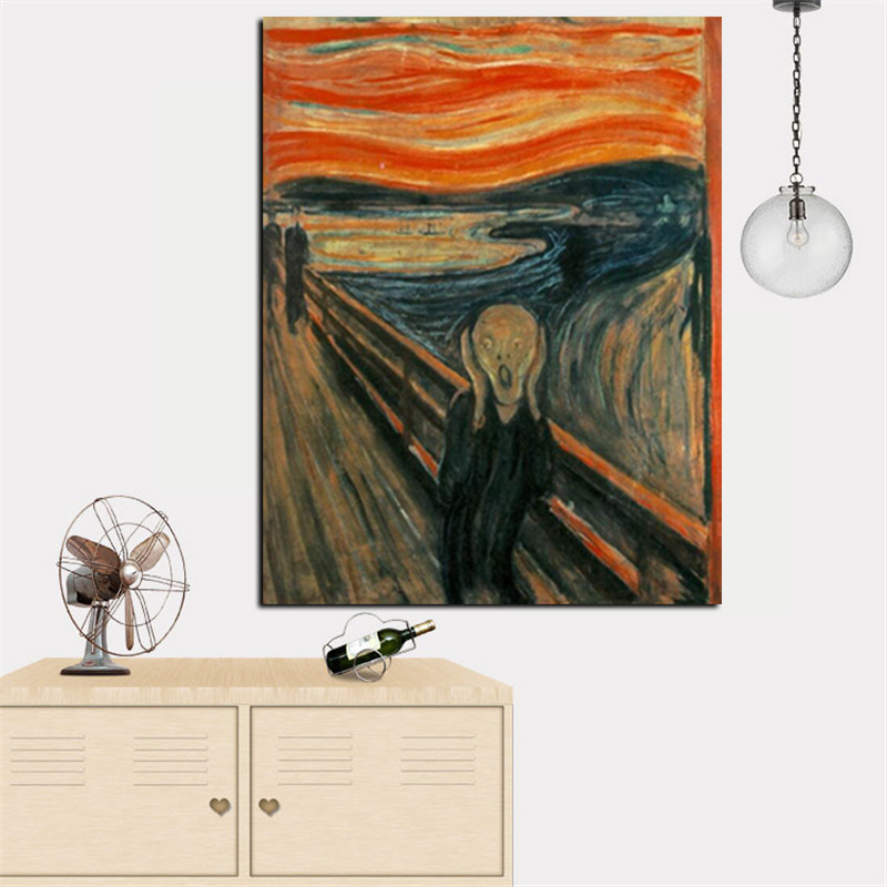 Digital HD Prints Edvard Munch Scream Abstract Oil Painting on Canvas Art Poster Wall Picture for Living Room Home Cuadros Decor (5)