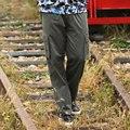 2016 встроенная smart обрезается мужские Брюки Новый большой размер случайные брюки поезд мужчины Карманные брюки большой талии свободные брюки плюс размер