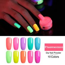 UR SUGAR 5ml Neon Phosphor Dipping Nail Powder Ultrafine Art Decorations Fluorescent Glitter Glow Pigment Dust Natural Dry