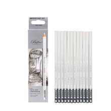 Marco7012 sketch highlight pen white pencil Soft Core Colored Charcoal Pencil For Drawing Highlight Pencil Crayon Blender Pastel