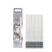 Marco7012 skizze highlight stift weiß bleistift Weiche Core Farbige Holzkohle Bleistift Für Zeichnung Highlight Bleistift Kreide Mixer Pastell auf