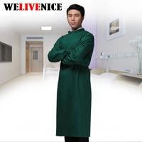 100% Cotton Medical Scrubs Hospital Doctor Nurse Men & Man Long sleeve Medical Clothing uniform #62110