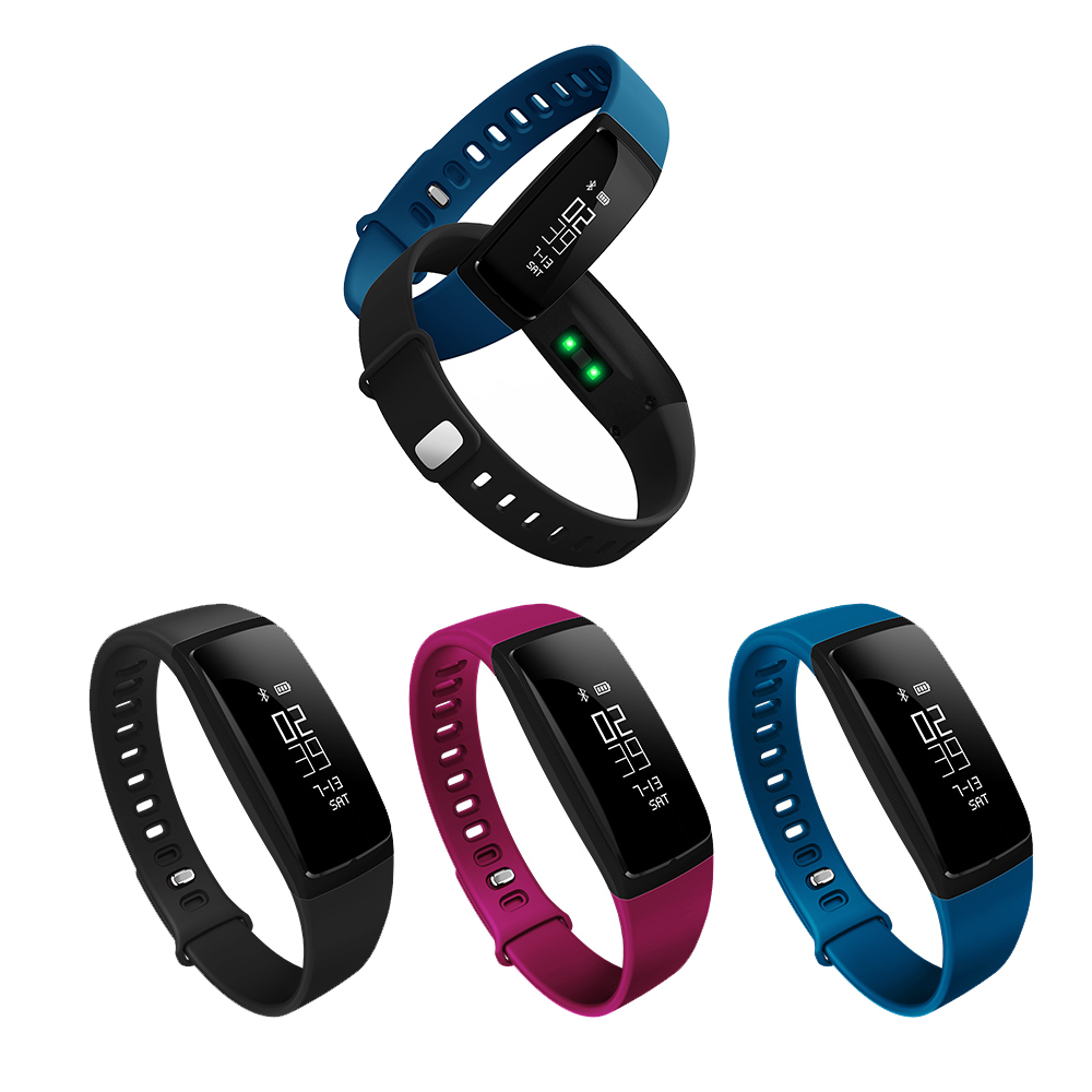 Smart Wristband Band V07 Heart Rate Bracelet Blood Pressure Watch Fitness Tracker Bluetooth SMS Call Remind