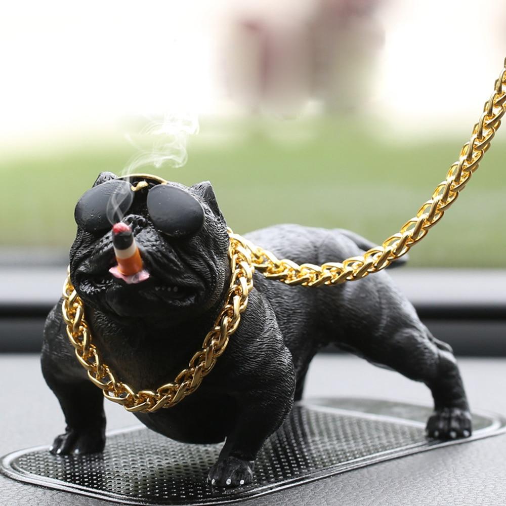 Unter Der Voraussetzung Auto Hund Harz Bulldog Dekoration Kreative Auto Innen Mode Simulation Hund Puppe Innen Zubehör Ornamente Rogue Hund Gut FüR Energie Und Die Milz