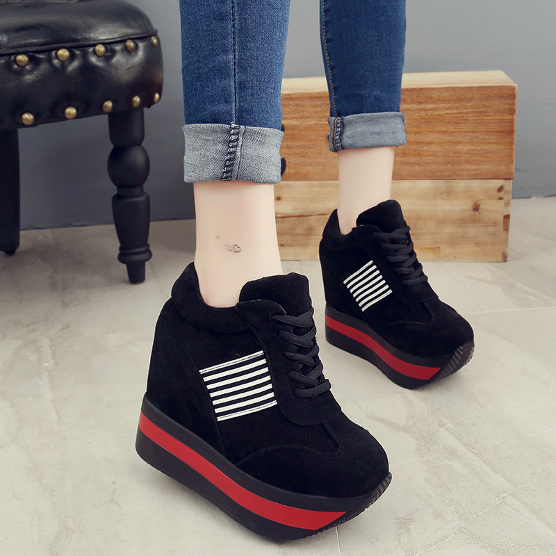 height increasing womens shoes stripe platform sneakers tenis feminino wedges shoes for woman harajuku zapatillas mujer casual zapatos deportivos blancos de mujer