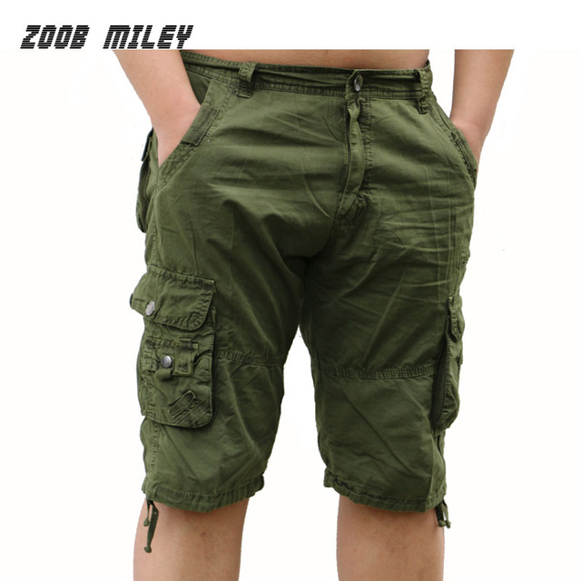 2a063d56b4 Fashion Military Cargo Shorts Men Loose Baggy Army green Trousers Summer  Causal Cotton Workout Shorts Big Size