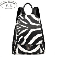 2019 Fashion Female Backpack Large Capacity Simple Travel Casual Backpacks Teenagers Zebra Pattern Schoolbag Shoulder Bag Women