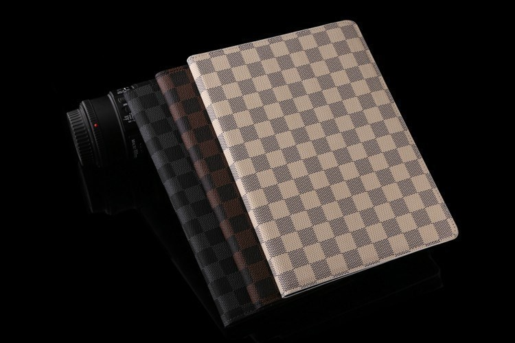 Luxury plaid Leather case cover apple ipad mini 2 wallet style holder smart - hongtai store