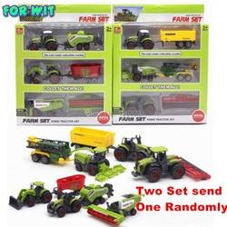 Diecast фермер игрушечных автомобилей, литого металла коллекционные модели автомобилей, сельскохозяйственные тракторы кашпо трейлеры игрово...