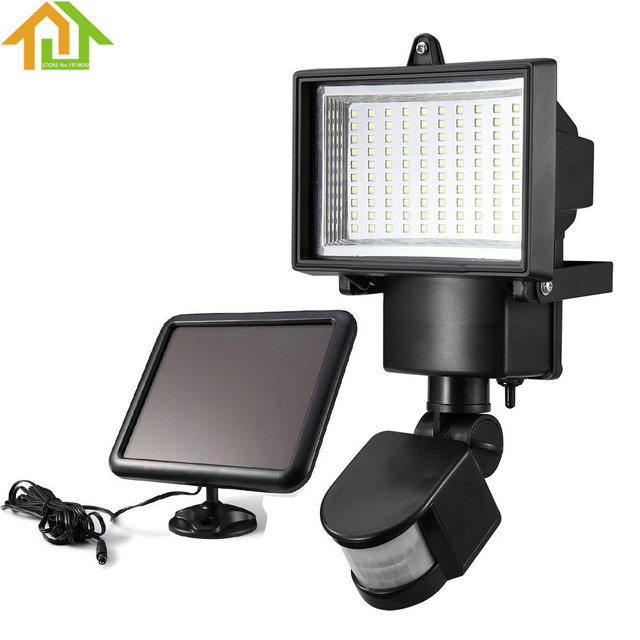 100 smd led solar powered sensor security light motion outdoor 100 smd led solar powered sensor security light motion outdoor garden flood lamp aloadofball Image collections