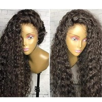 Eversilky Необработанные натуральный черный цвет 360 Искусственные парики перуанский Девы Натуральные Волосы странный вьющиеся 360 синтетически