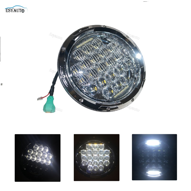 New headlight 1PCS 7 Inch Headlight 75W 5D Round Daymaker LED Projector Headlight for Harley Davidson Motorcycle niko 50pcs chrome single coil pickup screws