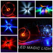 2017 New Bicycle Cycling Hubs Light Bike Front Tail Light Led Spoke Wheel Warning Light Waterproof Bike Accessories