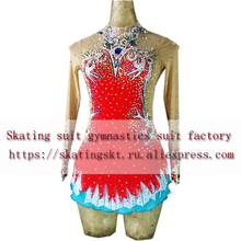 2018 new figure skating suit artistic gymnastics performance training red product Manufacturer design and
