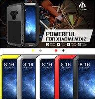 Xiaomi Mi Mix 2 Case Love Mei Full Body Shockproof Dustproof Aluminum Alloy Metal Gorilla Glass