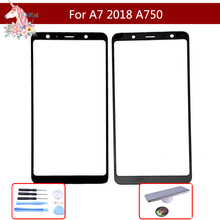 цена на 10pcs/lot Touch screen For Samsung Galaxy A7 2018 A750 A750F SM-A750F Touch Screen Front Glass Panel Outer Glass Lens