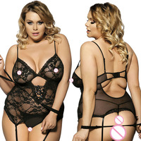 Xxxl 6xl Garter Hollow Women Sexy Lingerie Hot Plus Size Sexy Underwear Baby Doll Bandage Cosplay