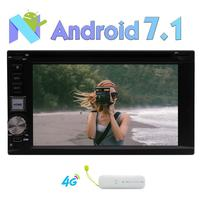 Android 7.1 Double Din Car Stereo Bluetooth 2 Din Car DVD Player Auto Radio GPS Navigation WIFI/Mirror Link/SWC/USB SD+4G Dongle