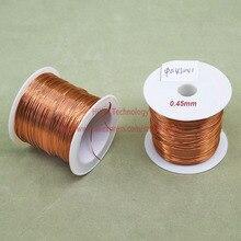 100 г/лот) полиуретановая эмалированная медная проволока диаметром 0,45 мм лакированная медная проволока s QA-1/155 2UEW провод для трансформатора перемычки