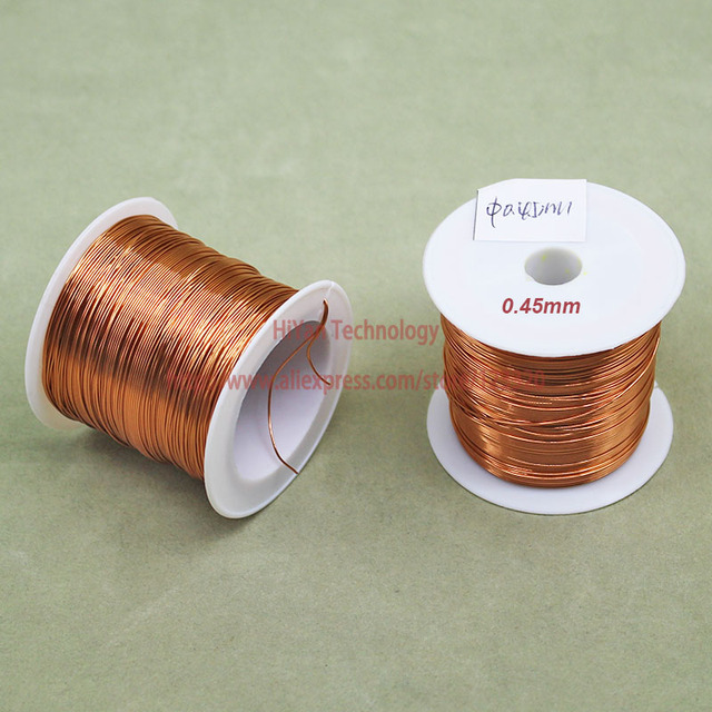 (100Grams/lot) Polyurethane Enameled Copper Wire Diameter 0.45MM Varnished Copper Wires QA-1/155 2UEW Transformer Wire Jumper