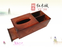 Vietnam high grade mahogany tray Tray wood multi function remote control storage box rosewood plain paper towel box