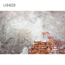Laeacco Grunge Old Brick Wall Vintage Children Street Portrait Photography Background Photographic Backdrop For Photo Studio