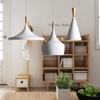 LED pendant light Nordic style wood lamp creative and simple design for bar restaurant coffee living room hotel reading room
