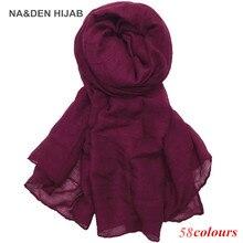2019 hot sale scarves Women Plain Maxi Hijab scarf soft Soild muslim s
