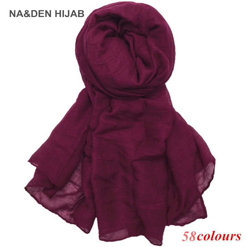 2020 Hot Sale Scarves Women Plain Maxi Hijab Scarf Soft Soild Muslim Shawls Wraps Lady Viscose Head Scarfs Fashion Scarves 1pc
