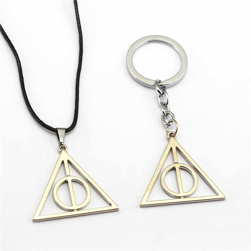 HP Luna and the Deathly Hallows Keychain Necklace Toys Pendants Gift Vintage Necklace Jewelry Accessories