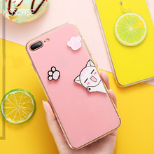 KISSCASE 3D Cartoon Cat Case For iPhone 6 6s Plus Cases Cute Fruit Animal Cover For iPhone X 8 7 6 6s Plus Back Patterned Coque protective 3d celestial bodies patterned plastic back case cover for iphone 6 blue black
