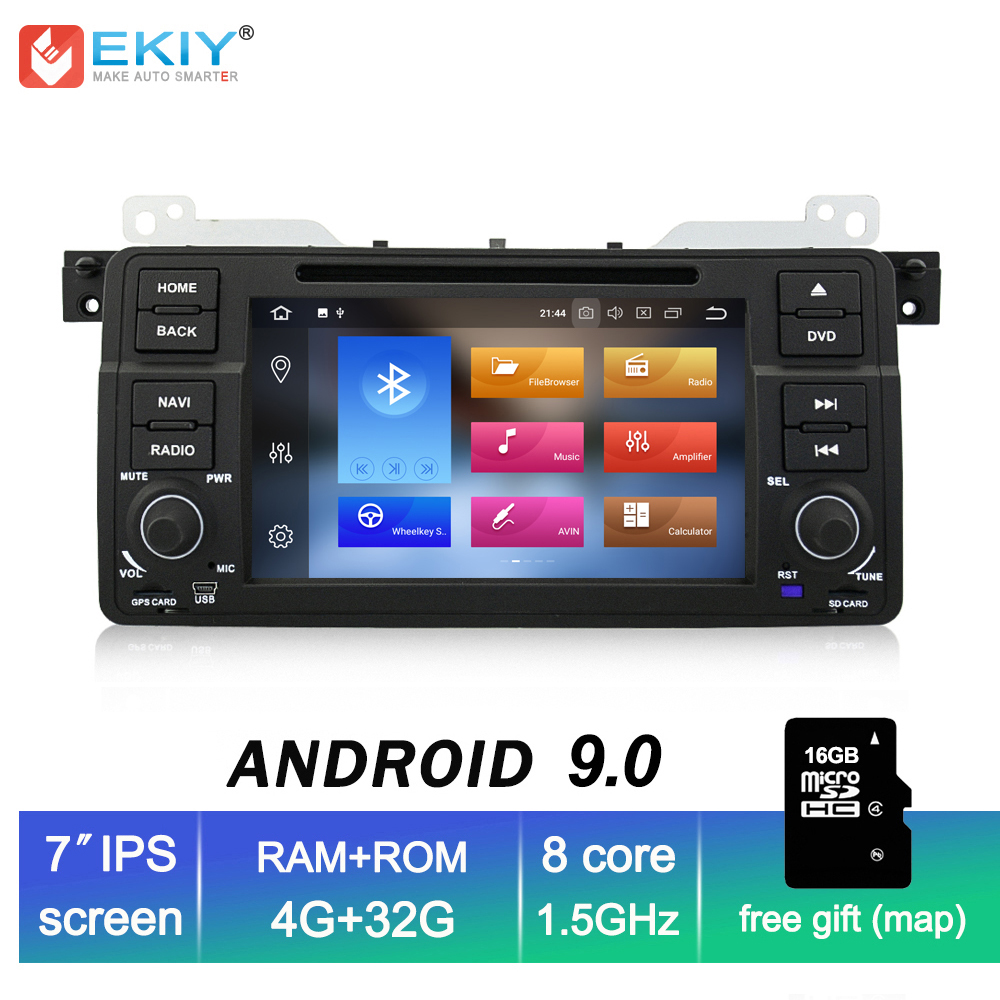 EKIY 7 IPS Android 9.0 Car DVD Multimedia Player 1 Din for BMW E46 M3 Stereo Audio Video GPS Navi Autoradio Octa Core 4G 32G image