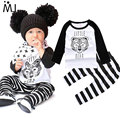 2016 New Arrival Girl Boys Clothes Set Long Sleeve Pants Owl Pattern Set of Clothes Newborn Baby Suit Children Clothing Infant