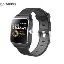 SENBONO IP68 مقاوم للماء لتحديد المواقع ساعة ذكية P1C شاشة ملونة مراقب معدل ضربات القلب متعدد الرياضة وضع جهاز تعقب للياقة البدنية ساعة ذكية