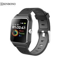 SENBONO  IP68 waterproof GPS Smart Watch P1C  Color Screen Heart Rate Monitor Multi sport mode Fitness tracker Smart Watch
