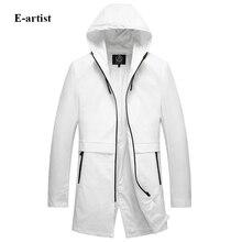 Мужская с капюшоном длинный однотонный плащ пальто весна осенние куртки верхняя одежда пальто мужской Slim Fit Повседневная ветровка F33 пальто...(China (Mainland))
