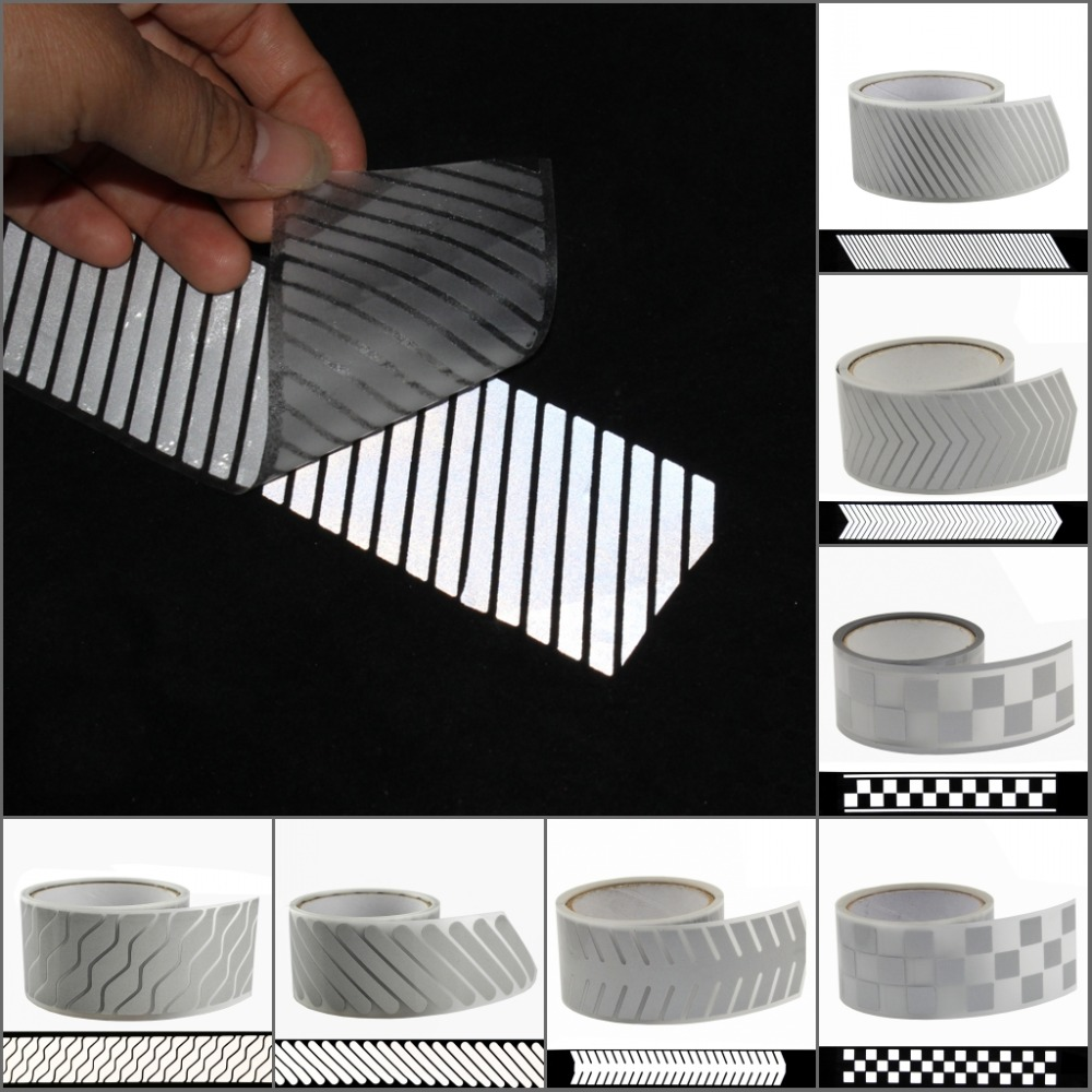 50mm*1m High Visibility Safety Heat Transfer Vinyl Film DIY Silver Iron On Reflective Tape For Clothing Fabric (18 By Choice)