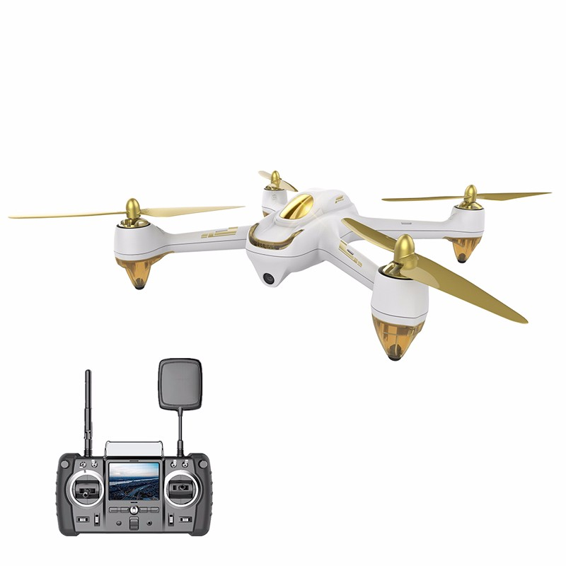 Newest Hubsan H501S Quadcopter FPV Drone RTF X4 PRO 5.8G GPS Brushless Follow Me Drone with 1080P HD Camera Color White