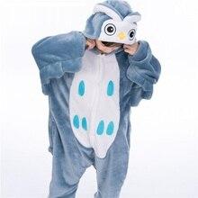 Criança Unicornio Dinasaur Pijama Animal Cosplay Macacão de Inverno Bonito Dos Desenhos Animados Ponto Flanela Crianças Menino Pijama Onsie