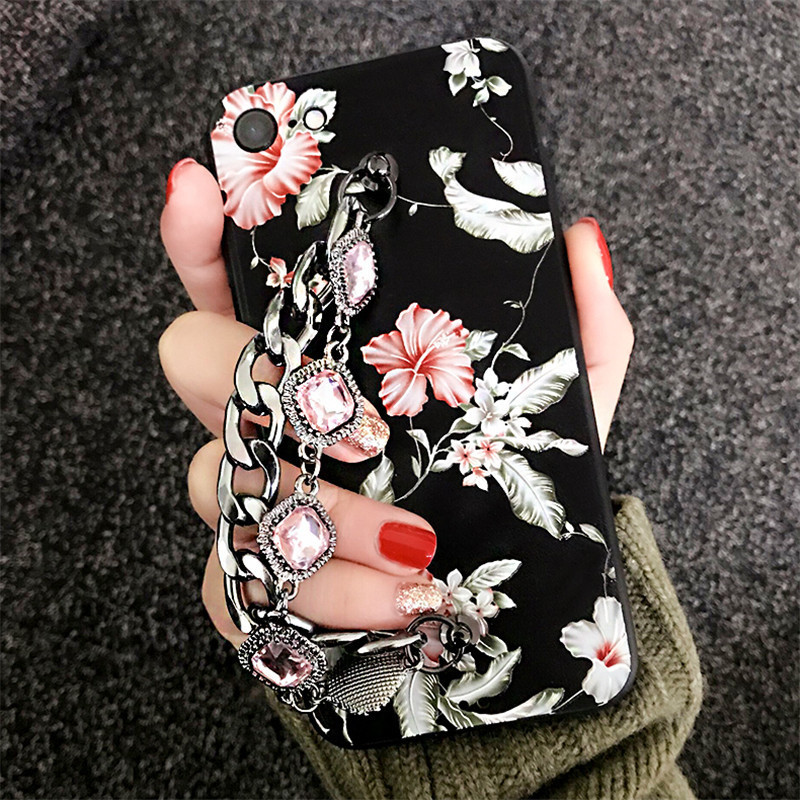 Luckywang For Iphone 7 Case woman Protect Soft Mourningborder Silicone Favourite Sale For Iphone 6 Case Mobile Phone Bags Cases