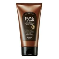 SKINFOOD Black Sugar Perfect Scrub Foam 180g Korea Face Cleanser Whitening Exfoliating Facial Scrubs Polishes Blackhead Removal