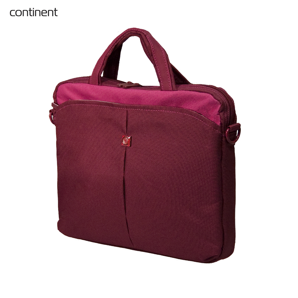 Laptop Bags & Cases Continent CONCC010CRAN for laptop portfolio Accessories Computer Office for male female coupon soild brown good leather zefer male handbag man laptop business office working briefcase shoulder bag metal lock letter