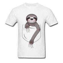 Pocket Sloth Cute Funny T Shirts Marvel Black Panther Captain New Tshirts Oversized 3D Print Kawaii Deisgn Tee Shirt Men