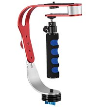 Stable stabilizer Handheld video Smartphone GoPro and camera perfect for DSLR 3.3 lbs/1.5 kg stable slip soft cam red + white