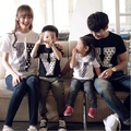 Family Set O-neck T shirts Cotton Family Clothing Mother Daughter Father Son T shirt Clothes Family Matching Outfit GL10