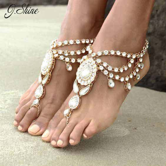 Europe Ethnic Statement Charming Foot Accessories Anklet for Women Online Shopping Indian