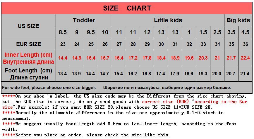 us big kid shoe size