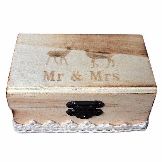 Holz Hochzeit Ring Box Personalisierte Holz Schmuck Ringe Boxen Mr