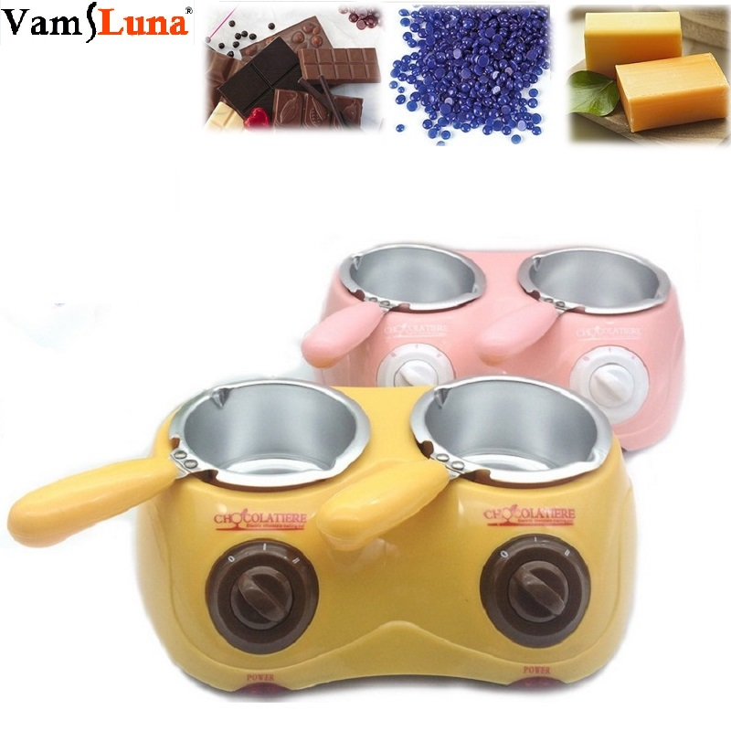 Wax Heater & Chocolate Melter Electric Warming Fondue Set Automatic Temperature Control Anti-Scald With Removable Pot-Melts Wax